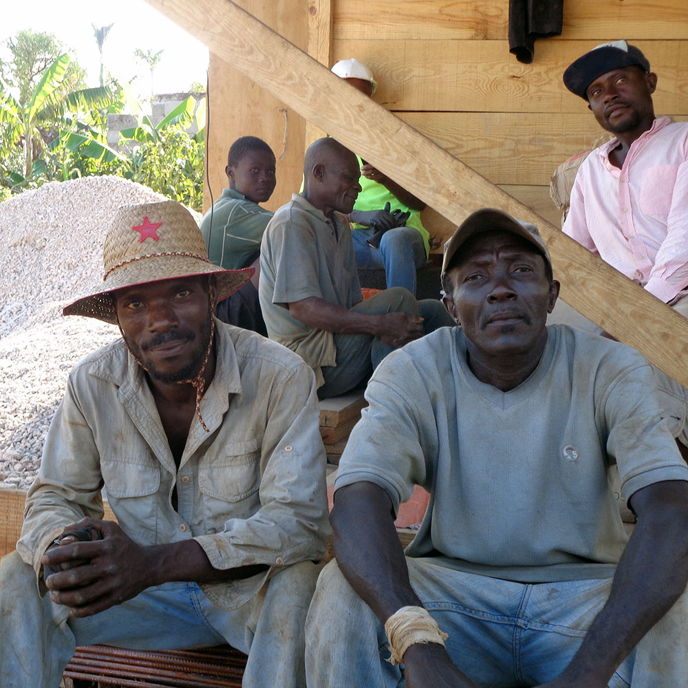 Gedeon Empowerment Project work with local builders in Chantal Haiti